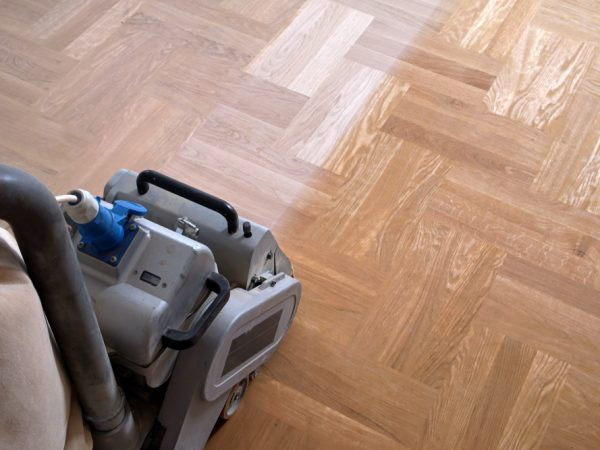 Sand the floor: Then your floor will be like new again